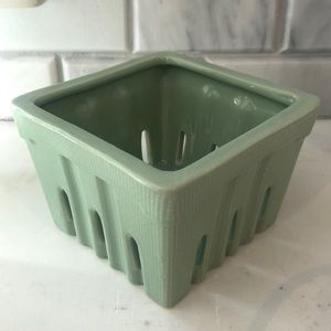 Creative Co-OpSquare Stoneware Berry Basket